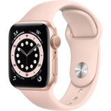 Apple Watch Series 6 GPS, 40mm Boîtier en Aluminium Or avec Bracelet Sport Rose des Sables